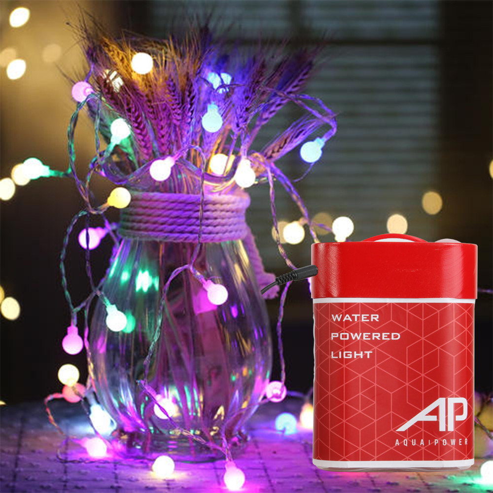 2019 New Arrival 100LEDs Colorful String Light Salt Water Seawater Powered Energy-saving Party Christmas Garden Outdoor Decor