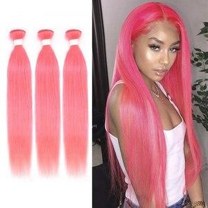 Предварительно окрашенные человеческие волосы пряди, серебро, зеленый, фиолетовый, розовый, голубой, бразильские волосы, пряди, прямые воло...