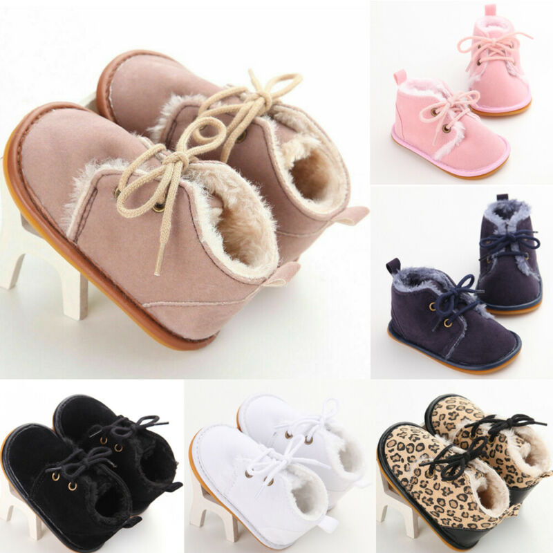 Pudcoco Toddler Baby Girl Shoes Soft Crib Sole Shoes Newborn Kid Babe Autumn Winter Snow Boot