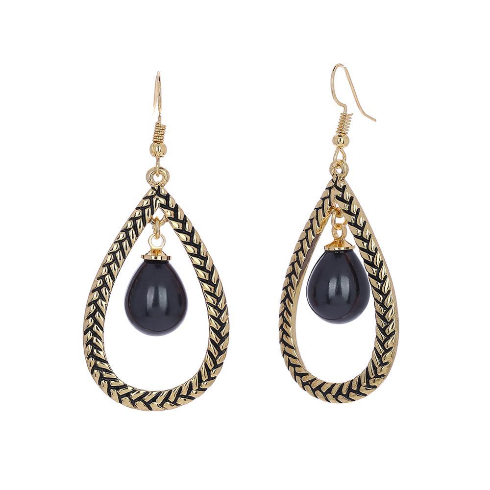 Cring Coco Water Drop Earrings for Women Classic Big Geometric Gold Color Dangling Earring Holiday Jewelry Hawaiian Summer Girls