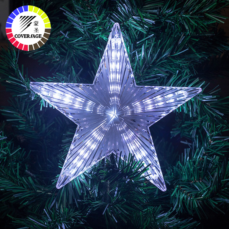 Coversage Christmas Tree Star Led String Fairy Lights Curtain Led Christmas Xmas Wedding Decoration Party Garden Holiday