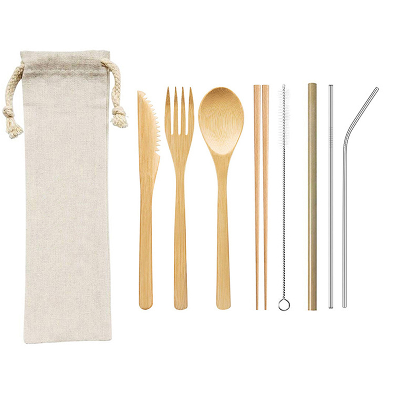 1Set Portable Travel Eco Friendly Bamboo Toothbrush Sets Plastic-Free Bamboo Tooth Brush Multiple styles Wholesale