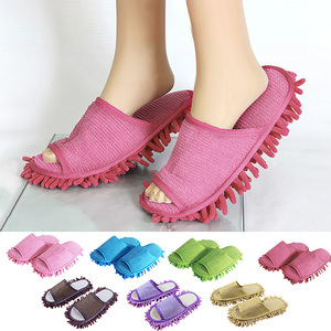 Lazy Cleaning Foot Cleaner Slipper Microfiber Soft Wearable Bathroom Floor Dusting Cover Home Cleanning Tools