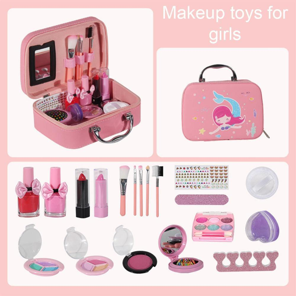 Mode Kinder Kosmetik Make Up Set Sicher Waschbar kinder Make-Up Set Box Prinzessin Schönheit Pretend Spielen Spielzeug Für Mädchen baby Spielzeug