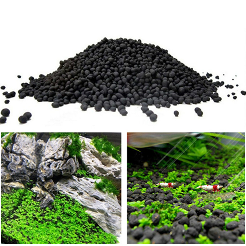 50-500g Fish Tank Water Plant Fertility Substrate Sand Aquarium Plant Soil Substrate Gravel For Fish Tank Water Moss Grass Lawn