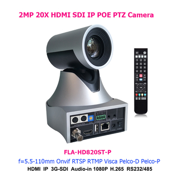 2MP 20x Optical Zoom 1080p60fps HDMI SDI IP POE PTZ Camera for Vmix Broadcasting System 1