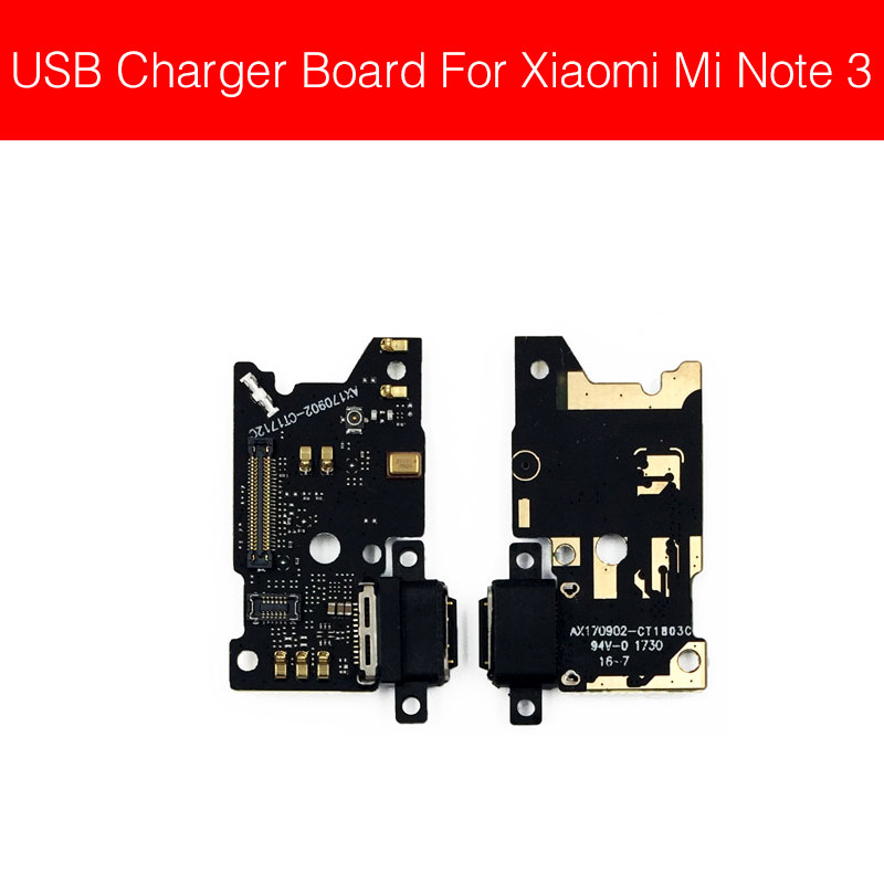 Charger USB Jack Board For Xiaomi Mi Note 3 Charging Port Module Usb Connector Port Board Parts Replacement Repair Parts