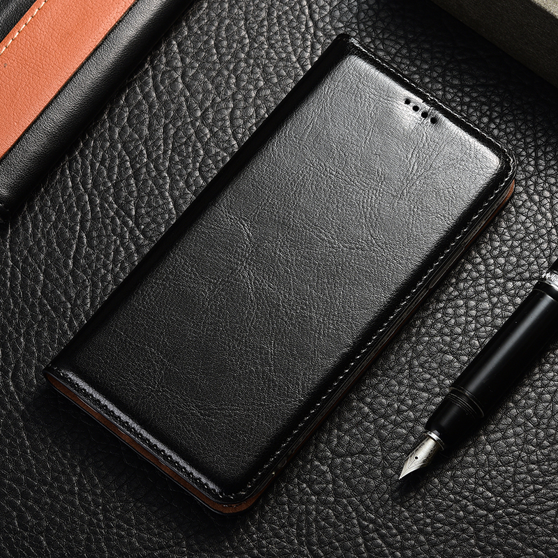 luxury Genuine Leather <font><b>Case</b></font> For <font><b>Samsung</b></font> <font><b>Galaxy</b></font> A10 A20 A30 A40 <font><b>A50</b></font> A60 A70 A80 M10 M20 M30 M40 <font><b>Case</b></font> Crazy <font><b>Horse</b></font> Flip Cover image