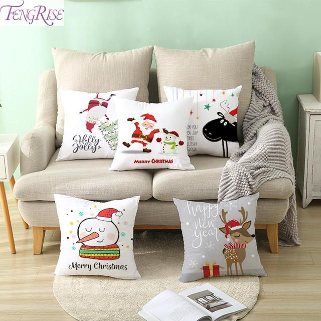 FENGRISE Merry Christmas Decor For Home Santa Claus Elk Pillowcase Christmas Ornament 2019 Navidad Xmas Gift Happy New Year 2020 1