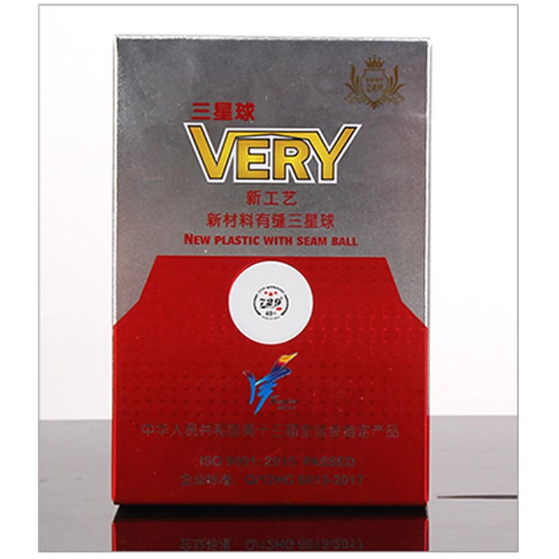 Friendship 729 Very 3-Star D40+ Table Tennis Balls (3 Star, New Material 3-Star Seamed ABS Balls) National Games Ping Pong Balls