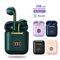 Nuove cuffie Bluetooth Wireless J18 TWS True cuffie da gioco auricolari sportivi per smartphone Android iOS auricolari Touch Control