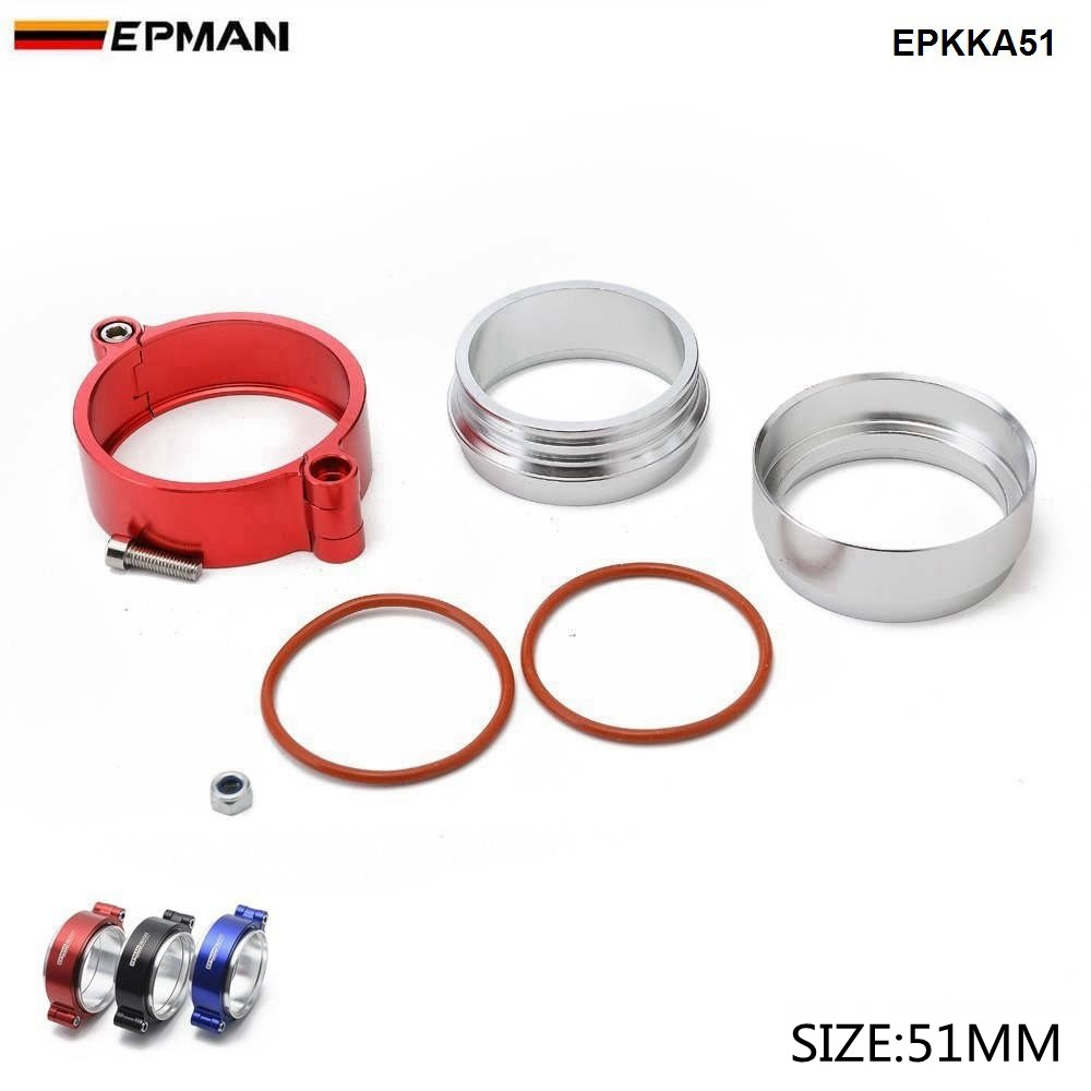 """2 PCS  Aluminum Flanges Kit 3.5/"""" 89mm Universal Exhaust Downpipe V-Band Clamp"""