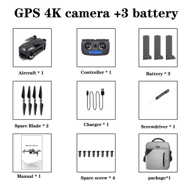 XIL GPS Drone HD 4K Camera  5G WiFi Two Axis Gimbal Brushless Motor Folding Quadcopter 50 Times Zoom Flight 25-28 Minutes