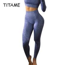 Titame Для женщин Высокая талия Бесшовные Леггинсы Фитнес брюки