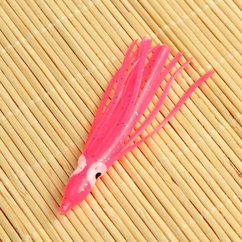 2G/8 Cm Lembut Gurita Memancing Lure Squid Rok Umpan Buatan Fishing Tackle