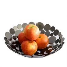 Fruit Basket Container Bowl Metal Wire Basket Kitchen Drain Rack Fruit Vegetable Storage Holder Snack Tray Bowl Table Storage I