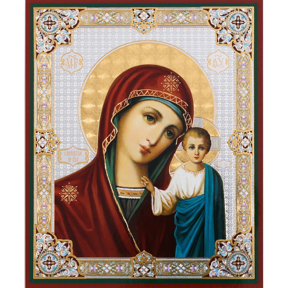 5d квадратные алмазов картина с младенцем Казанская Православная икона мозаика набор для алмазной вышивки продажи YG1486