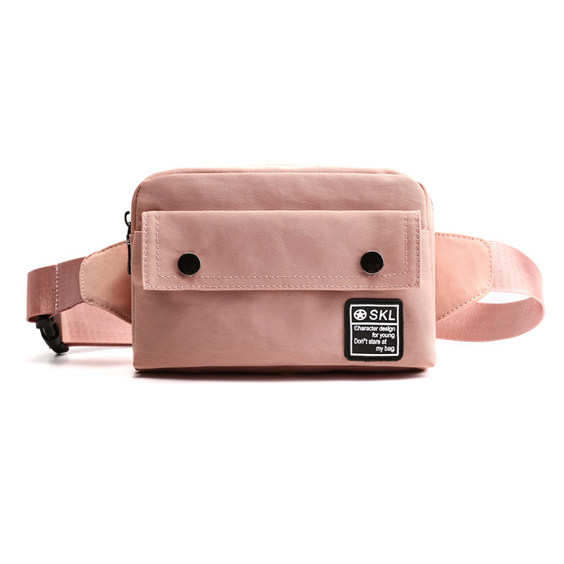Designer Women's Waist Bag Waterproof Nylon Belt Bag Female Flap Crossbody Chest Bags Square Fashion Fanny Bag Hip Purse Pocket