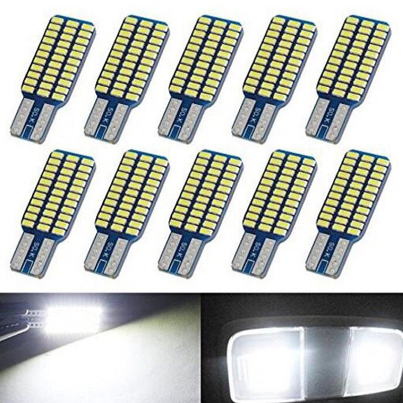 Car Led T10 192 194 168 W5W LED Bulbs 33 SMD 3014 Tail Lights Dome Lamp White DC 12V Canbus Error Free Auto Accessories