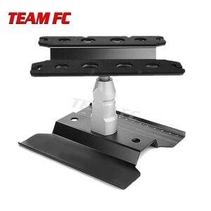 Image 3 - 360 שחור קצר עבודת Stand תיקון תחנת הרכבה פלטפורמת מעלית או נמוך יותר עבור 1/8 1/10 Scale RC דגם רכב TRX4 צירי S26