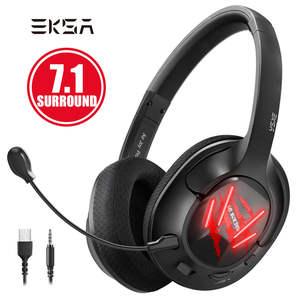 EKSA Gaming Headset Earphones Wired-Game Noise-Canceling Gamer-E3 Surround Pc/laptop