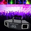 Лазерный светильник для вечеринки с 4 объективами для дискотеки DMX RGB полный цветной луч + Сканирование изображений DJ эффект проектор сканер ...