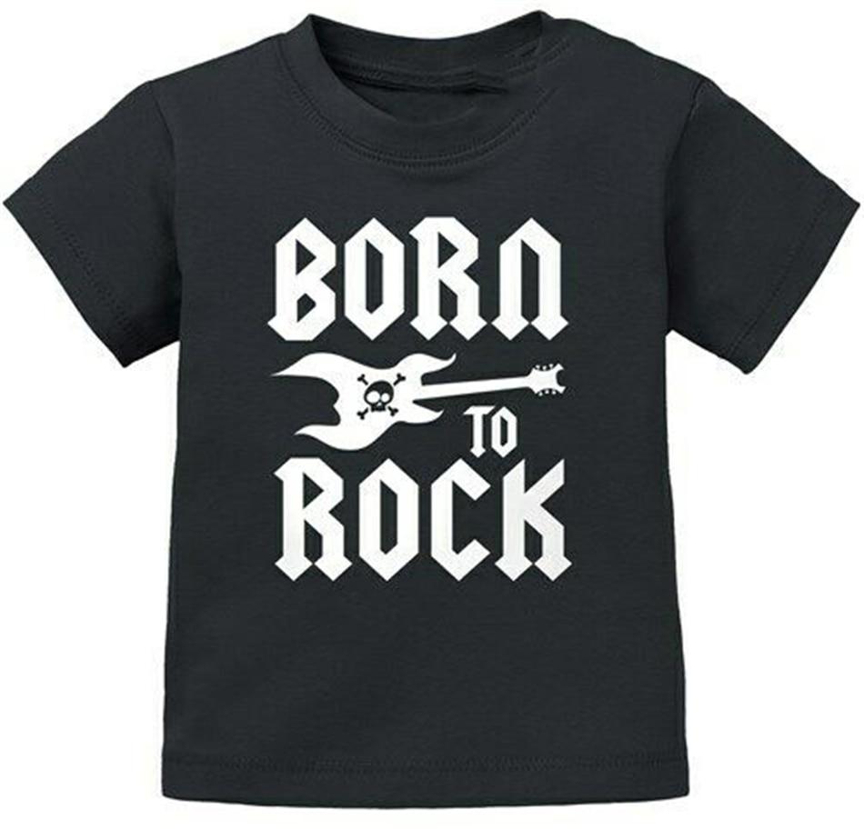"Baby Rock T-Shirt /""Born to rock/"" Heavy Metal Music Boy Girl Tee"
