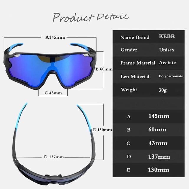 2019 Brand Polarized  Mountain Bike Sports Bicycle Cycling Sunglasses Gafas Ciclismo MTB Cycling Glasses Eyewear Sunglasses 5