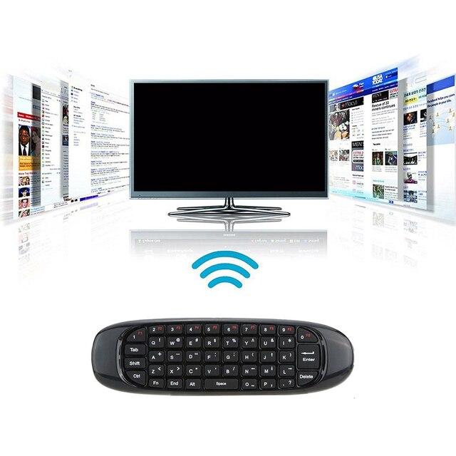 C120 6 Assi Giroscopio 2.4G Air Mouse Tastiera Senza Fili Del Mouse di Controllo Remoto di Controllo Vocale per la TV BOX Computer Inglese versione