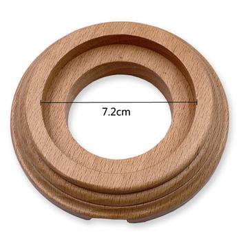Przełącz akcesoria drewniana podstawa okrągły otwór średnica 72 mm Retro gniazdo przełącznika drewniana podstawa brązowy podstawowy kolor drewna tanie i dobre opinie CN (pochodzenie) Wooden Base