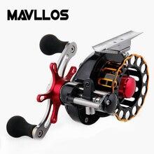 Mavllos Metal Fishing Raft Reel 5BB Ratio 3.5:1 Aluminum Alloy Saltwater Fly Fishing Reel Winter Gear Fishing Equipment