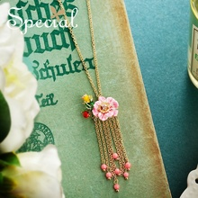 The SPECIAL New Fashion  girls heart flowers long necklace, sweater chain slimming pendant and green birds,S1925N