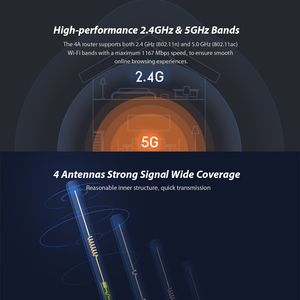 Image 4 - שיאו mi mi נתב 4A אלחוטי WiFi 2.4GHz 5.0GHz Dual Band 1167Mbps WiFi מהדר 4 אנטנות רשת extender APP בקרת נתב