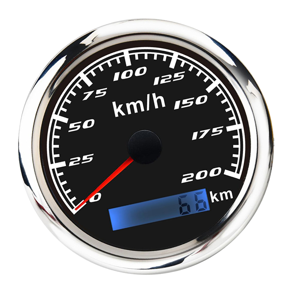 316 Stainless Steel L Bezel  85mm(3/8'') GPS Speedometer Gauge 200 MPH Odometer  for ATV  Motorcycle Marine Boat