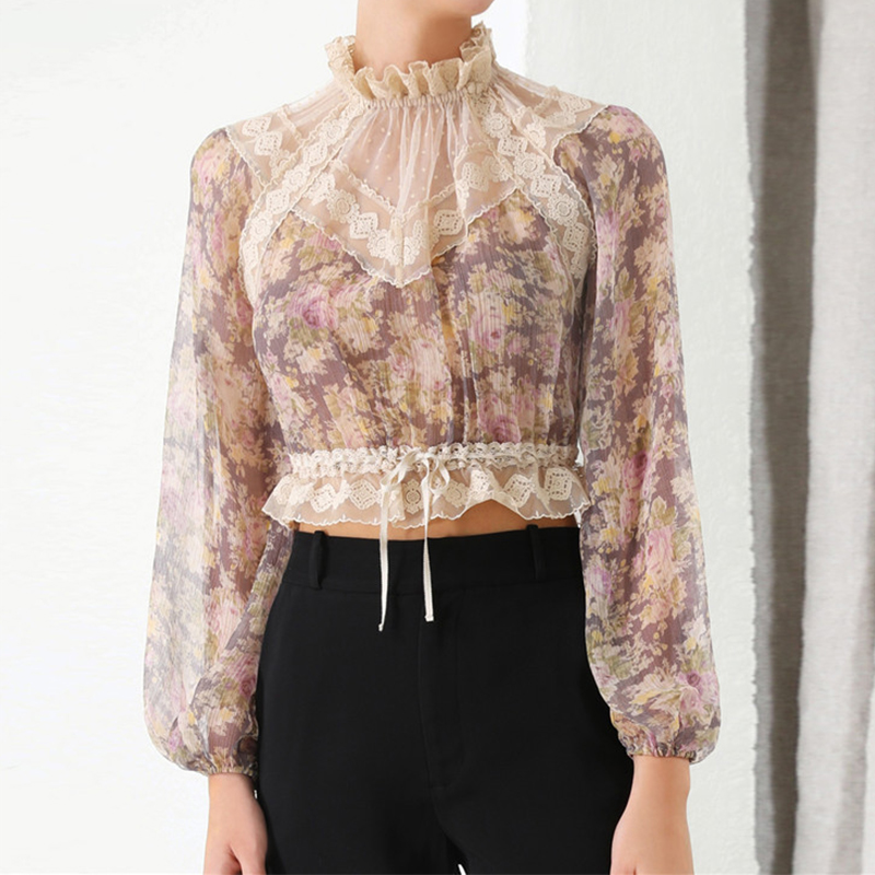 Blouse Summer Cropped Autumn