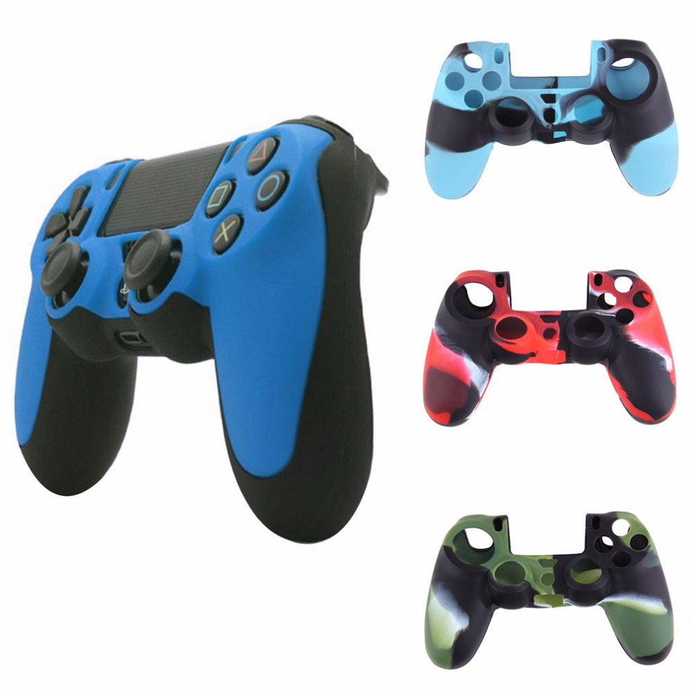 Camouflage Soft Silicone Cover Case Protection Skin For SONY Playstation 4 PS4 Dualshock 4 Controller Hot New Arrival