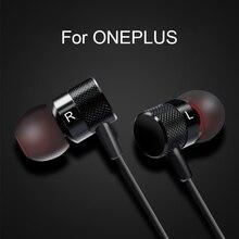 Ecouteur pour oneplus 5 6 6t 7 7 pro dans loreille filaire avec microphone type c/3.5mm pour téléphone portable