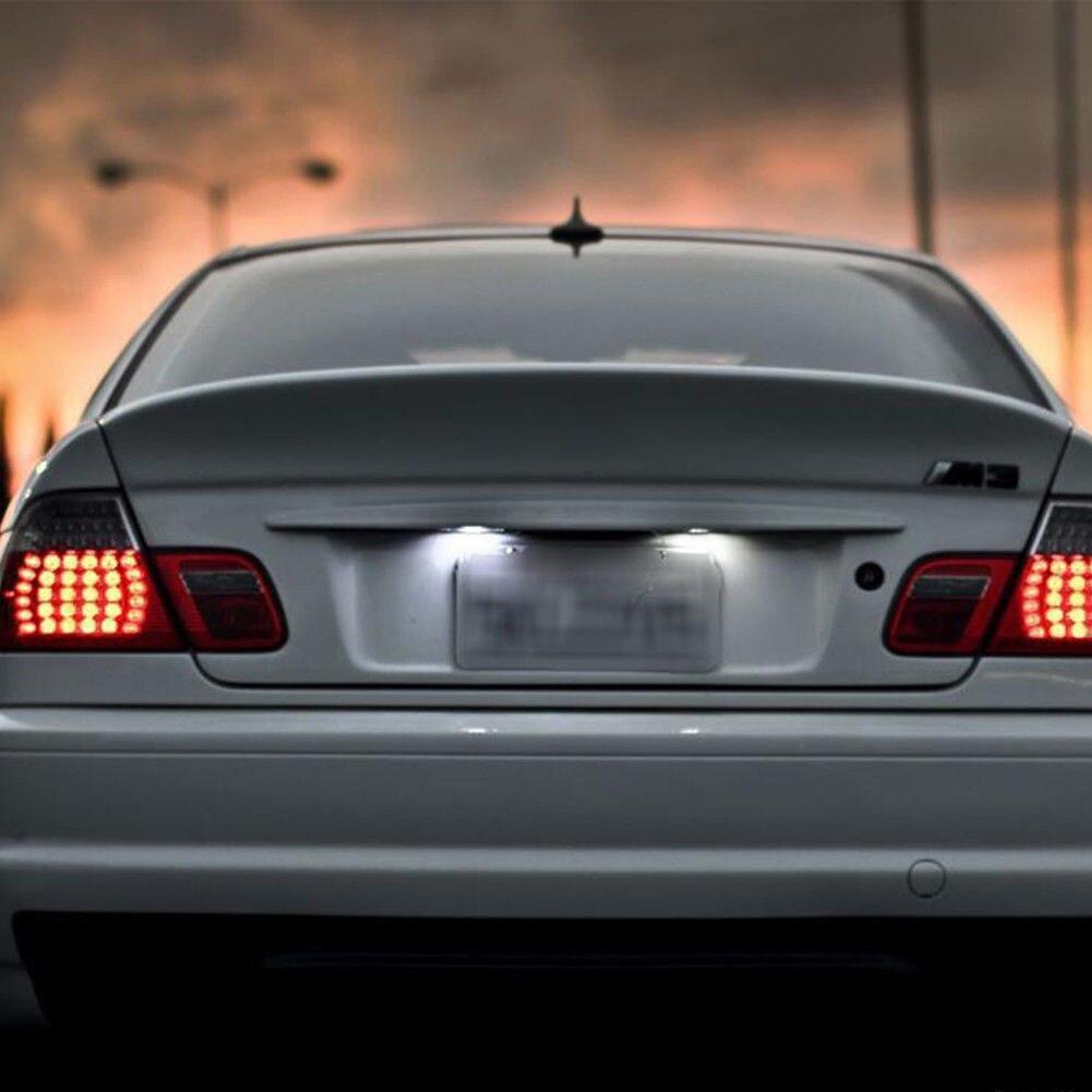 Para BMW E46 M3 Facelift 2004-2006 luz de matrícula 6500K coche 12V accesorios de decoración populares 2 uds