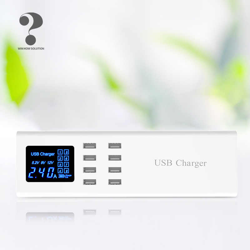Wireless 8a Fast Charger Multi Port Quick Charge USB Mobile for Xiaomi Samsung s9 iphone X Laptop ipad Wall Adapter Hub