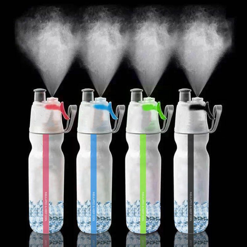 500ml Mist Spray Water Bottle Portable PE Sports Travel Bottles Outdoor Cycling Driving Climbing Running Drinkware Accessory|Outdoor Tools| |  - title=