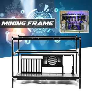 Case Computer-Frame Coin-Open Air-Mining-Miner Crypto Steel ETH 6-Gpu Rig