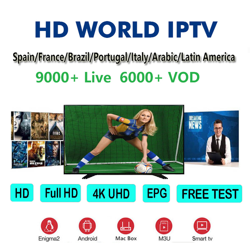 IPTV M3U 9000 Live Europe IPTV Arabic Belgium Sweden French France UK German Poland Spain USA Canada for h96 max smart TV Box in Set top Boxes from Consumer Electronics