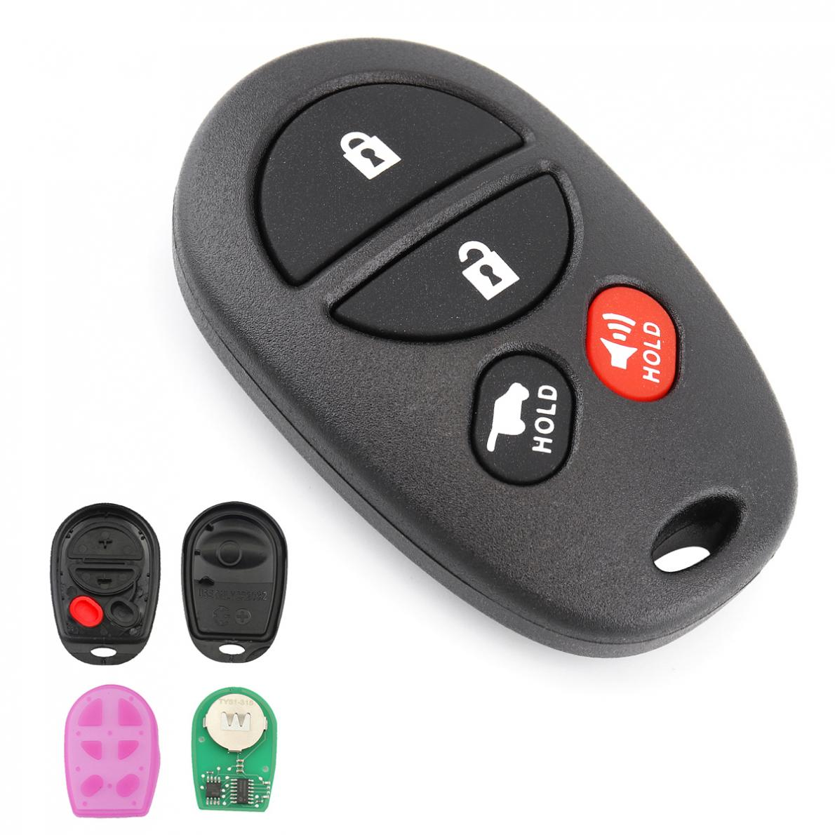 Key Fob Replacement >> Us 4 87 39 Off 315mhz 4 Buttons Keyless Entry Remote Car Key Fob Replacement For Toyota Sienna Avalon Solara Sequoia Highlander 2004 2016 In Car Key