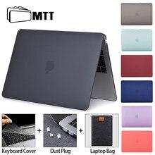 Mtt matte caso do portátil para macbook pro ar 11 12 13 15 16 polegada preto rosa capa 2020 manga portátil funda a2289 a2251 a2179 a1278