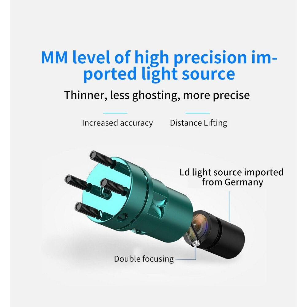 XEAST 3D poziom lasera 12 linii kursora 50M transmisja impulsowa System alarmowy AC/DC do ładowania, pionowe, poziome, laser obrotowy