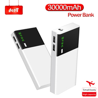 Power Bank 30000 MAh Schnelle Lade Tragbare Telefon Batterie Dual USB Ladegerät LCD Digital Display Mobile Power Externe Batterie-in Powerbank aus Handys & Telekommunikation bei