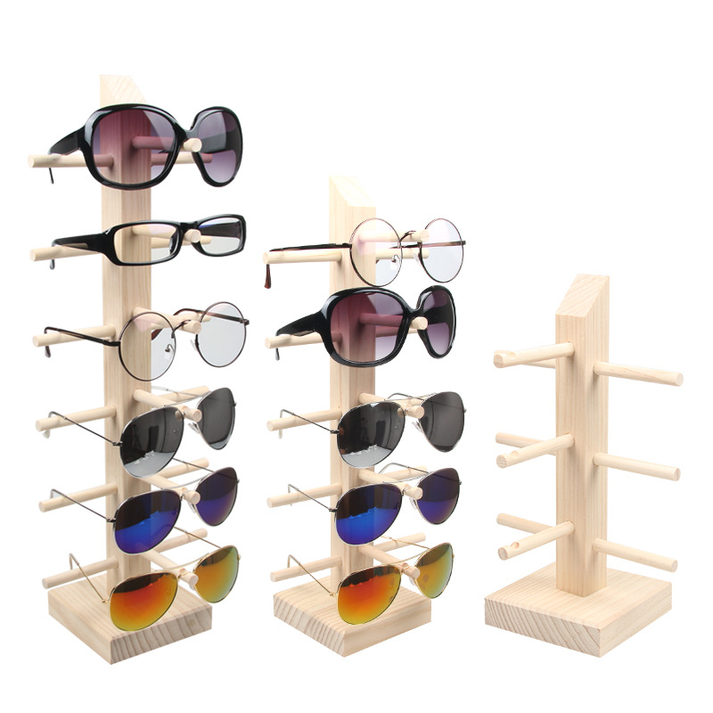 New Multilayers Wood Sunglass Display Rack Shelf Eyeglasses Show Stand Jewelry Holder Organizer Multi Pairs Glasses Showcase