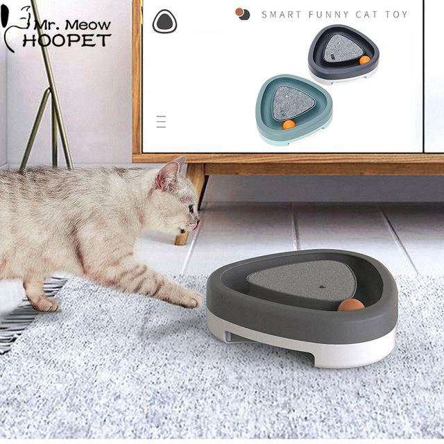 Smart Electric Automatic Kitten Toy With Fun Squeaky Ball 1