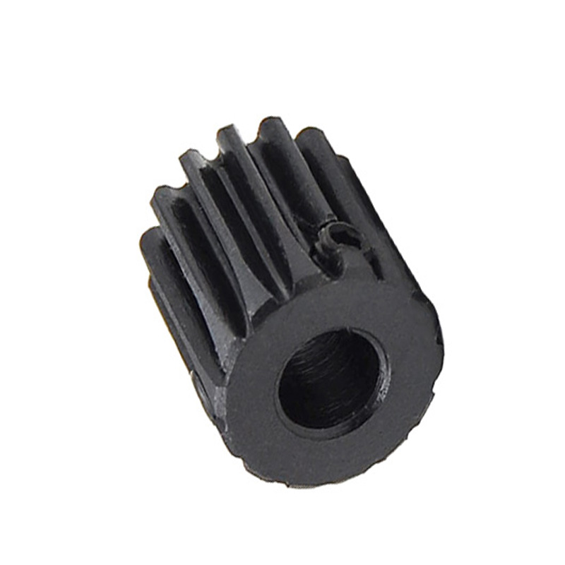 1/2/5/10/20PCS 1M 12T Spur Gear Pinion Bore 5mm Surface Black Motor Pinion Gear Mod 1 Tooth 12 Outer Diameter 14mm 45#Steel