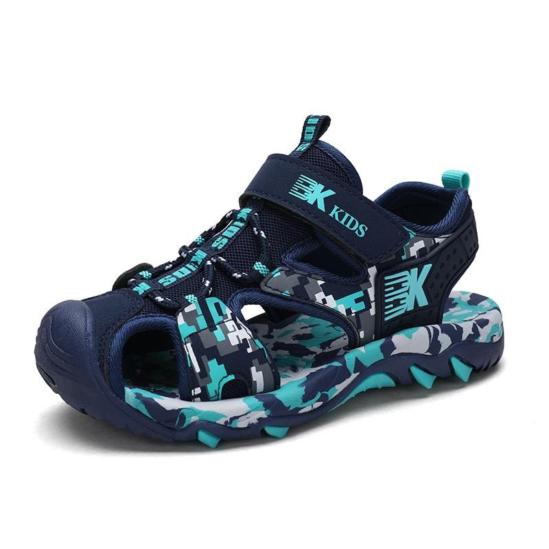 Kids Boys Sandals High Quality Camouflage Cut-outs Child Summer Big Boys Sandalias Children's Shoes Kids Canvas Flats Shoes